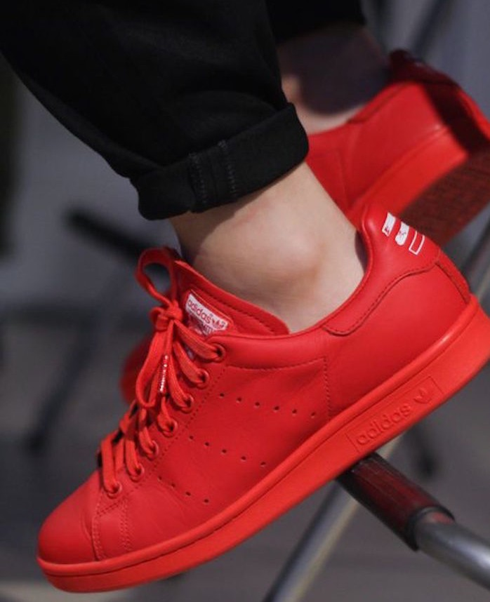chaussure adidas stan smith femme rouge