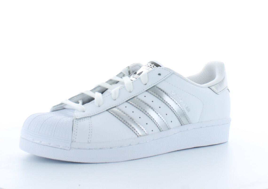adidas superstar blanche et argentée